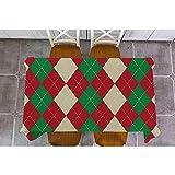 XXDD Mantel de decoración navideña Feliz Navidad Plaid Papá Noel Elk Mantel Cuadrado Rectangular Cubierta de Mesa de Comedor Mantel A5 135x160cm