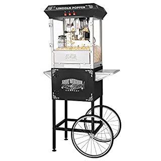 Great Northern Popcorn Black Lincoln Antique Style Popcorn Popper Machine Complete with Cart and 8-Ounce Kettle (B000PT0AYC)   Amazon price tracker / tracking, Amazon price history charts, Amazon price watches, Amazon price drop alerts