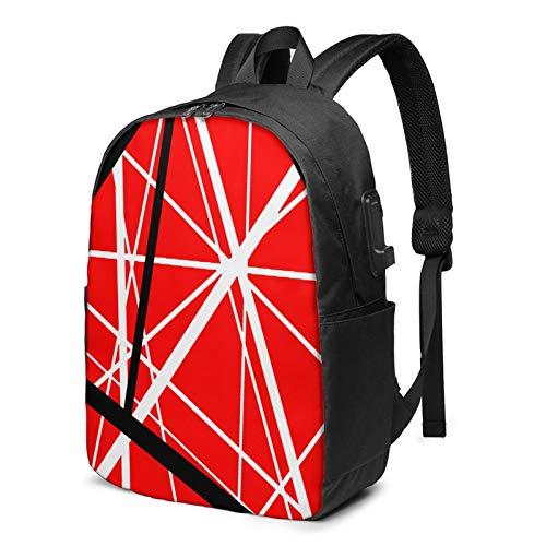EDD-Ie Va-N Halen 17 Inch Laptop Backpack USB Charing & Slim Travel Computer Back Pack for College Business