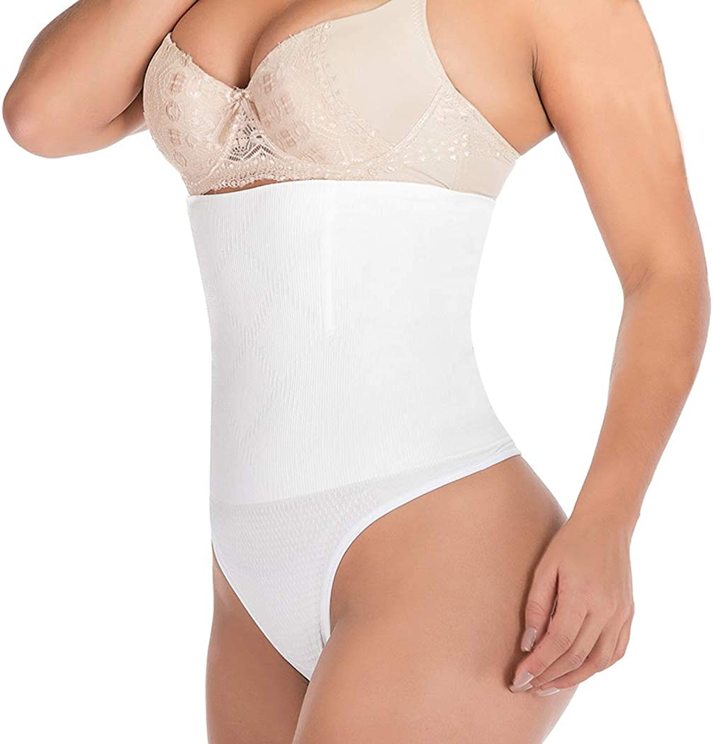 FUT Thong Shapewear Tummy Control Panties Slimmer Body Shaper for Women Waist Cincher Girdle Underwear