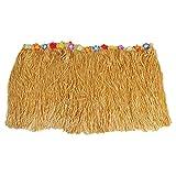 BMNN Faldas de Mesa de Tul para mesas rectangulares Falda de Mesa Hawaiana Luau Flor Hierba jardín Boda Fiesta Playa decoración Caqui(Size:276 x 30cm)