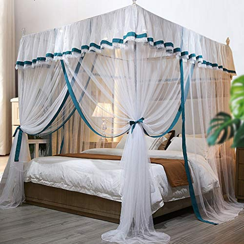 Lowest Prices! Wyhgry Large Mosquito Mesh Net,Tent Twin Size Netting Curtain Hanging Bed Canopy Nett...