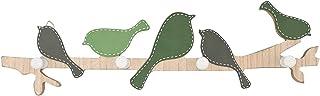 壁のパンチのための鍵穴のためのキーホルダーのための壁の装飾的な鳥の壁の壁の装飾的な白い棚ベルト黒キーホルダー小さなモダン (Color : Green)
