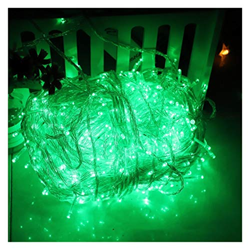 LIFEIYAN LED String Light 10M 100LEDs Outdoor Fairy Lights with 8 Lighting Modes Christmas Decoration Lights for Party Wedding Garden Patio Festoon Lights (Color : Green, Size : 600m6000leds)