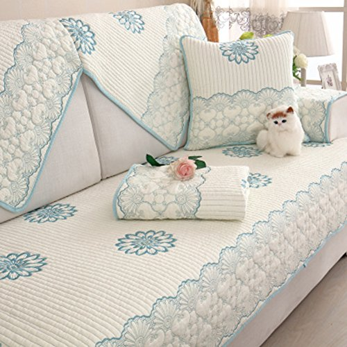 Kid Love - Juego de fundas de sofá de algodón de doble cara, diseño moderno de cuatro estaciones, 1 pieza