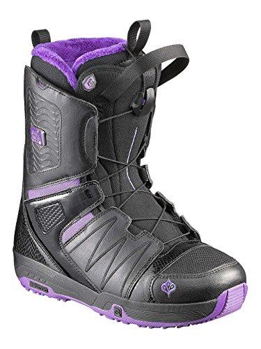 Salomon Pearl 11/12 - Botas de snowboard para mujer, color negro/morado, tamaño...