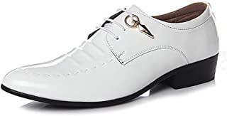 Shhdd Luxury Oxford formal shoes men comfortable Sapato society men dress shoes leather office casual shoes spring Mocassin Homme (Color : White, Size : 43 EU)