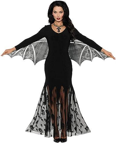 Horror-Shop Geflügelte Vampiress Kostüm für Halloween L