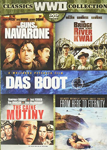 Bridge on the River Kwai, the (Original Version) / Caine Mutiny, the / Das Boot (Director's Cut) / from Here to Eternity (1953) / Guns of Navarone, the - Set