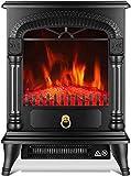 GOHHK Chimenea eléctrica, Efecto Llama Fuego eléctrico con Chimenea Envolvente Efecto Estufa leña eléctrica portátil