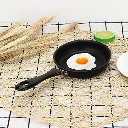 12CM Nonstick Pan Nonstick Cookware Pan Steelpan Kleine gebakken eieren Pot algemeen gebruik for Gas, Zwart, 15cm koekenpan groot,dljyy (Color : Black, Size : 15cm)