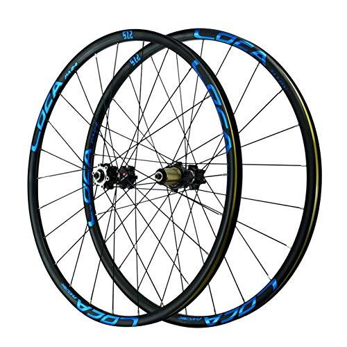 CHICTI 29-Zoll-Vorderrad,24 Löcher Standard Amerikanischer Mund Schnelle Veröffentlichung 8/9/10/11/12 Geschwindigkeit Laufrad Hinterrad Draußen (Color : Blue, Size : 29in)