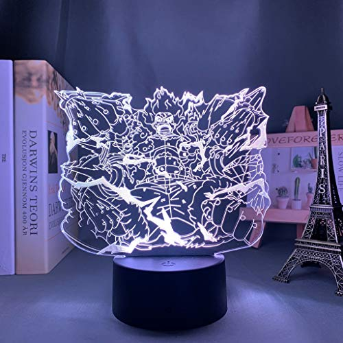 Luffy Future Surpassing Python Lámpara Decorativa de Mesa de 3D con Luz de Noche Luces Led Funciona con Pilas para Fiestas Bodas Festivales Decoración del Hogar Disposición Romántica