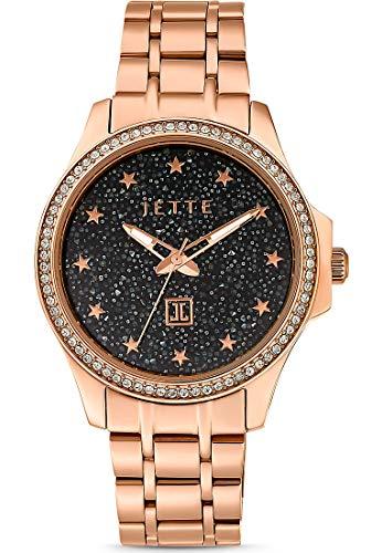 JETTE Time Damen-Uhren Analog Quarz One Size Rosé Gliederarmband 32013685