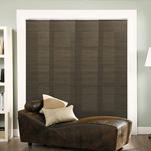 """CHICOLOGY Trimmable Length, Adjustable Track Width X 96""""H, French Oolong (Privacy & Natural Woven)"""