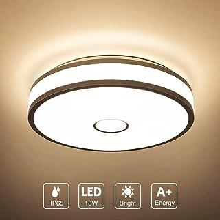 Onforu 18W LED Lámpara de Techo, IP65 Impermeable CRI 90+
