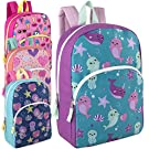 24 Packs of Wholesale Boys & Girls Character and Animal Backpacks with Adjustable, Padded Back Straps in Bulk Bundles (Girls)