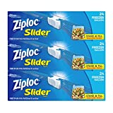 Ziploc Slider Freezer Bags, Stand-and-Fill with Expandable Bottom, Gallon, 72 Count, Pack of 3 (72 Total Bags)
