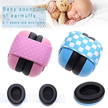 Guajave Baby Ear Protection Anti-noise Earmuffs Noise Reduction Headphones with Elastic Band