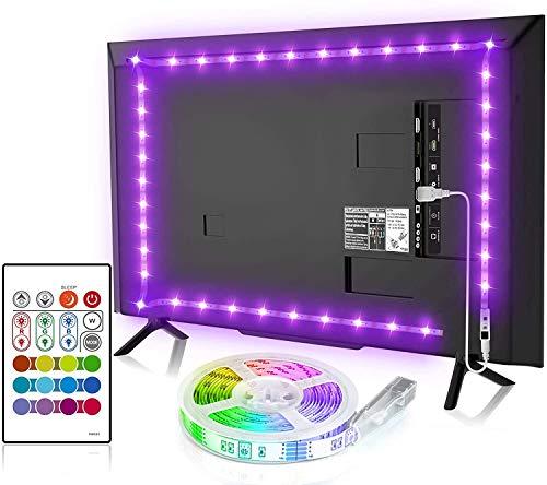 BASON LEDテープライト USB接続 2.5m テレビ照明 バックライト RGBテープライト リモコン付き 调色调光 高輝度 正面発光 SMD5050 両面テープ 間接照明 テレビ用・TV・PC照明・モニター・ホームシアター LED装飾ライト 雰囲気作り(非防水)
