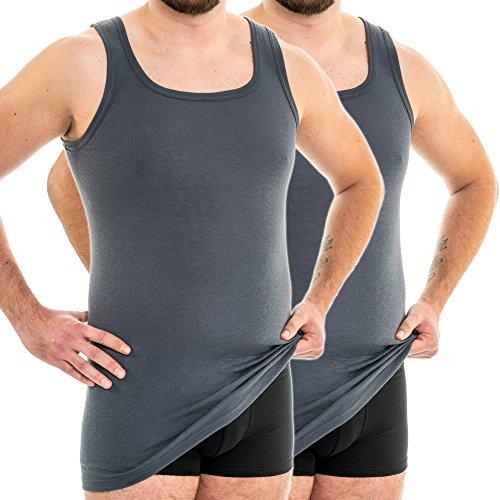 HERMKO 63027 2-pak heren functioneel onderhemd extra lang