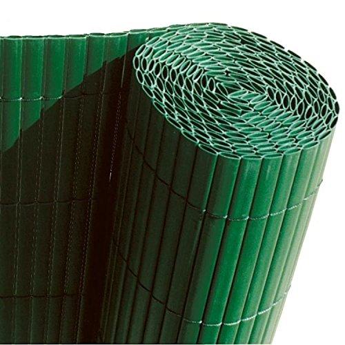 Faura 15001- Cañizo de PVC de Doble Cara para decoración Exterior, Color Verde