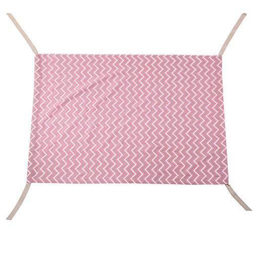 XingYue Direct 0-2years Baumwolle Hängematte, Neugeborenes Kleinkind Baby, Kleinkind Bett elastische abnehmbare Kinderbett (Color : B/pink)