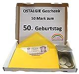 WallaBundu OSTALGIE Geschenkidee - 50 Mark zum 50. Geburtstag – EIN symbolisch wertvolles Geschenk mit ca. 11 verschieden Umlaufmünzen aus der DDR Zeit und...
