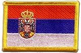 Aufnäher Patch Flagge Serbien mit Wappen - 8 x 6 cm
