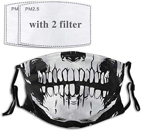 Skeleton Face Mask with Filter Pocket Washable Bandanas Balaclava Reusable Fabric For Men Women product image