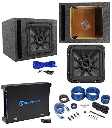 KICKER 45L7R124 12' 1200w L7R Subwoofer Solo-Baric L7R124+Amplifier+Vented Box