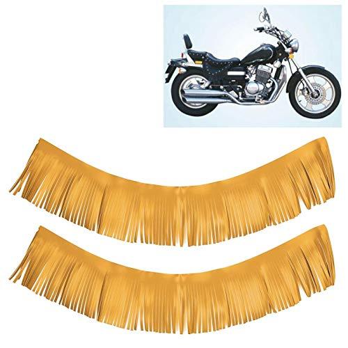 Pedal de pie con flecos de motocicleta Fleco de tabla de piso confiable resistente al desgaste para(Yellow Item No. 3-2-74)
