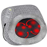 Coby Shiatsu Massager with Heat | Deep Tissue Kneading Therapeutic Cushion Massage Pad & Foot Cover for Upper/Lower Back & Feet | 3D Rolling Balls & Infrared Heat for Targeted Full Body Pain Relief