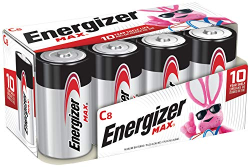 Energizer Max C Batteries, Premium Alkaline C Cell Batteries (8 Battery Count) - Packaging May Vary