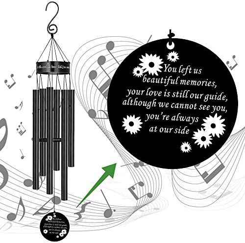 MEMGIFT Bereavement Sympathy Gift for Loss of Love One Dad Mom Pet Dog Memorial Wind Chime with product image