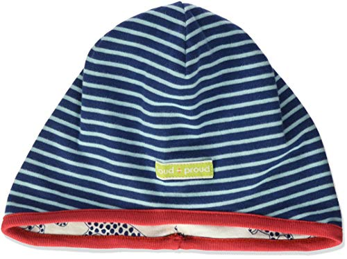 loud + proud Unisex Baby Wendemütze, aus Bio Baumwolle, GOTS zertiziziert, Blau (Ultramarin Ul), 43/45 (Herstellergröße: 86/92)