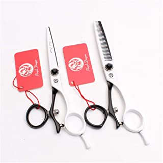 Professionele haar knippen 5.5/6.0 inch Barber Schaar Uitdunnen Shears High-End 440C Steel Set kappers Stylist Salon Hairc...