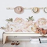 Yyhmkb Formas simples Peonía Flores Etiqueta de la pared Vintage...