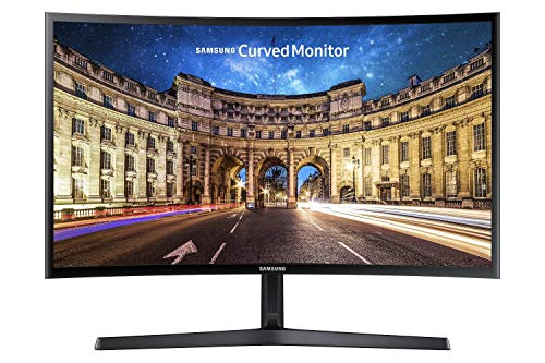 Samsung C24F396 Monitor Curvo, 24'' Full HD, 1920 x 1080, 60 Hz, 4 ms, Freesync, Nero