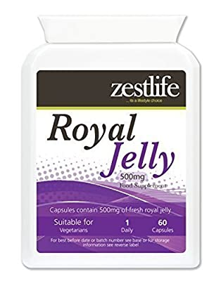 Zestlife Royal Jelly 500mg of fresh Royal Jelly - Suitable for vegetarians **On Special Offer** by Zestlife