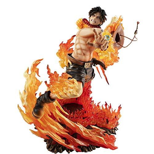 Figura de una Pieza Puño de Fuego Ace Modelo de decoración Personaje de Anime Colección de muñecas para niños Recuerdo