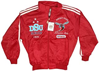 New! Men's Delaware State University Hornets 2 Piece Track-Warm up Suit - Red - X-Large