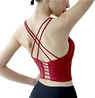 Women's Sexy Yoga Sports Bra Backless Vest Support Workout(Removable Padded Included)