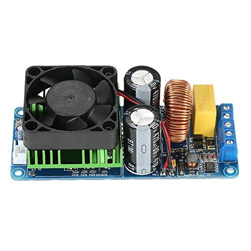 KKmoon Tarjeta de amplificador monocanal IRS2092S, amplificador de audio digital, HIFI clase D, tarjeta de amplificador DIY de 500 W de alta potencia