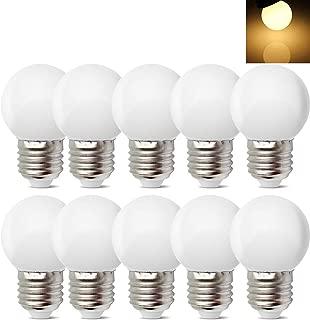 10Pack E26 E27 Led Bulb 1W Soft White 3000K Not Dimmable LED Energy Saving Light Bulbs 5 Watt Equivalent LED Lights for for Halloween Bedroom Holiday Decoration