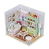 Irfora Kit de Bricolage,décoration de Maison de Bricolage avec Accessoires de lumière LED Meubles Maison de poupée Miniature Kits d'artisanat en Bois Meilleurs Cadeaux d'anniversaire pour Femmes et