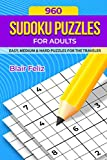 960 Sudoku Puzzles for Adults: Easy, Medium & Hard Puzzles for Travelers