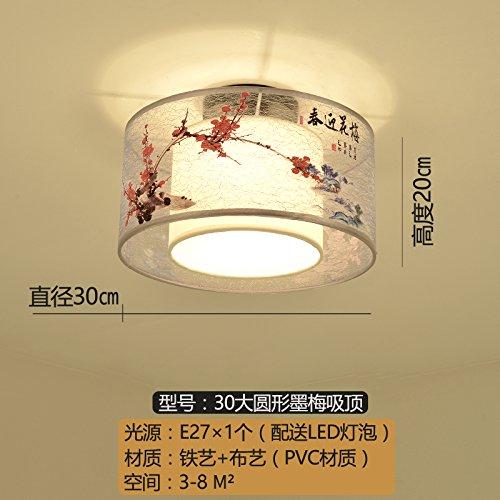 Luckyfree Creatieve Modern Fashion hanger lampen plafondlamp kroonluchter slaapkamer woonkamer keuken, geel 30 cm ronde plafond inkt stempel
