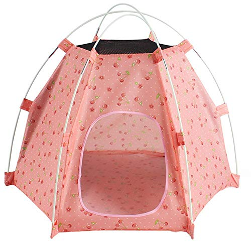 Arbougstg Outdoor-Haustierzelte, tragbar, faltbar, UV-Schutz, regenfest, wasserdicht, für Reisen, Camping, Hundehütte