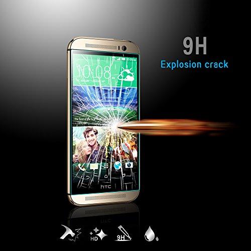 Protector de pantalla HTC One M8 EasylifeTM HTC M8 templado Protector de pantalla de cristal templado Protector HTC M8 Supreme Protector de pantalla de cristal anti-a los arañazos, anti-y antihuellas, sin burbujas, de explosión-proof y presión-resistente al para HTC One M8